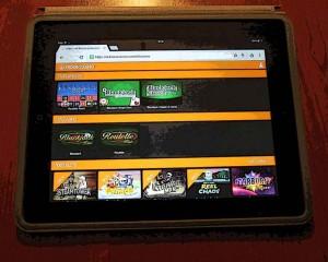 spelen met tablet bij Kroon Casino